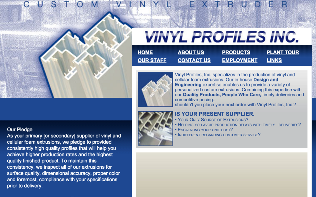VINYL PROFILES INC. RECEIVES NATIONAL RECOGNITION FROM INDUSTRY GIANT